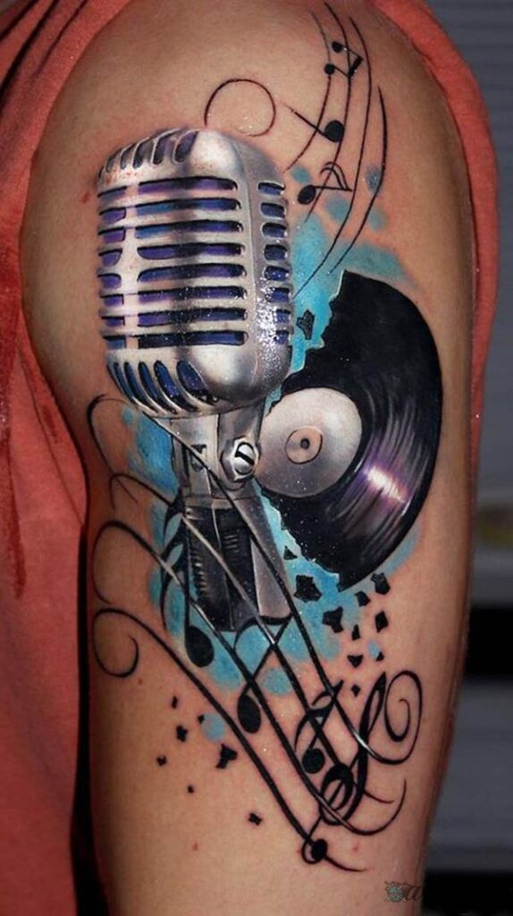 nota musical tattoo